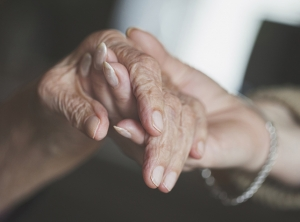 Elderly aged care hand skin