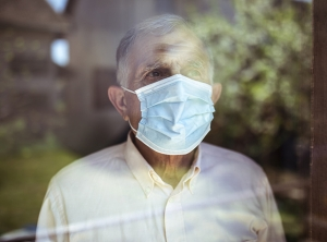Elderly man during COVID-19 pandemic