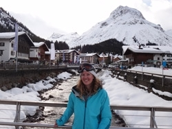 Physiotherapist Emma Wilson at St Anton