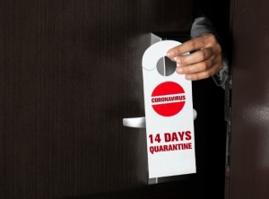 Hotel Quarantine Sign