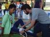 Nurse Jean-Philippe Miller in Myanmar