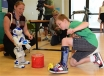 Physiotherapist Jo Butchart and NAO. Credit: RCH/A