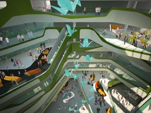 Artist impression Perth Children�s Hospital. Depar
