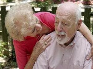 Elderly alzheimers patient